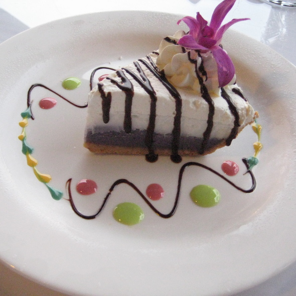 Okinawan Purple Sweet Potato and Haupia Pie - Don the Beachcomber - Royal Kona Resort, Kailua-Kona, HI