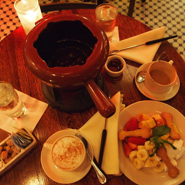 Chocolate Fondue - Les Zygomates Wine Bar Bistro, Boston, MA