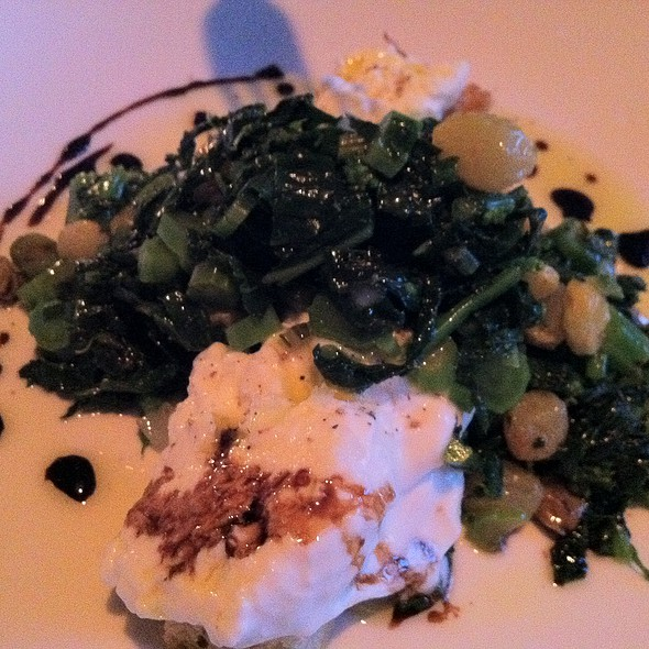 Burata with broccoli rabe and focaccia - Ventuno, Nantucket