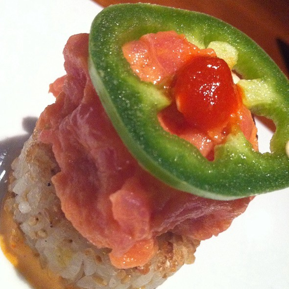 Spicy Tuna on Crispy Rice - Kabuki Japanese Restaurant - Las Vegas, Las Vegas, NV