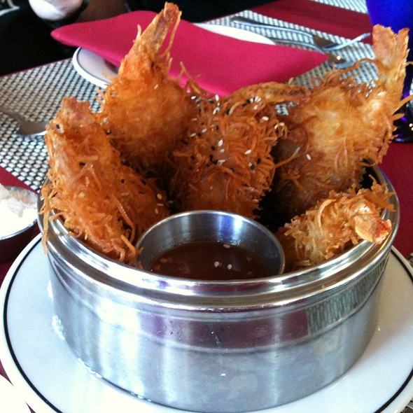 Coconut-crusted Prawns - Salty's at Redondo Beach, Des Moines, WA