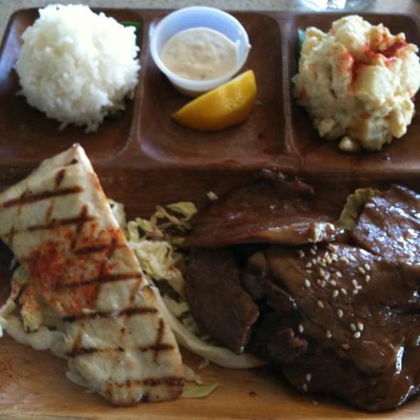 Hawaiian Mix Plate - Lahaina Fish Co., Lahaina, HI