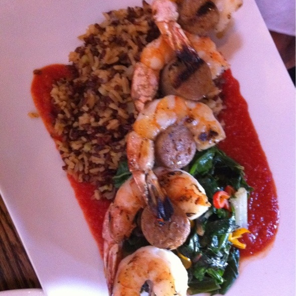 Shrimp&chorizo with Red Rice - Sugarbeet, Longmont, CO