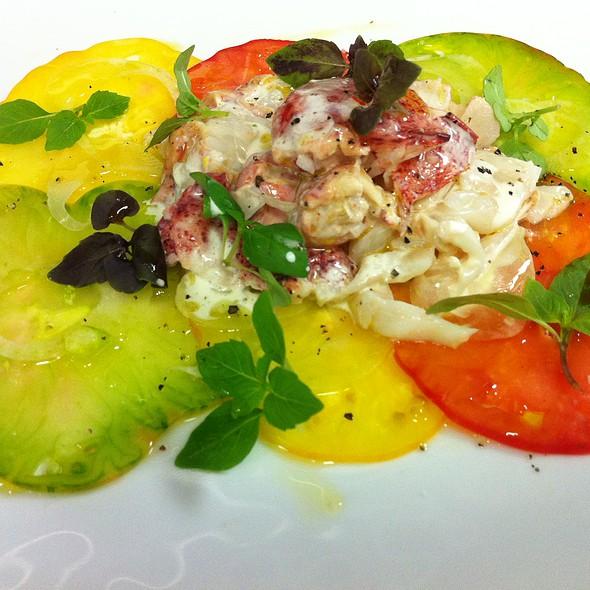 Maine Lobster Salad with Hierloom Tomato Carpacio, Basil and Lemon Dressing - Lupo by Wolfgang Puck, Las Vegas, NV