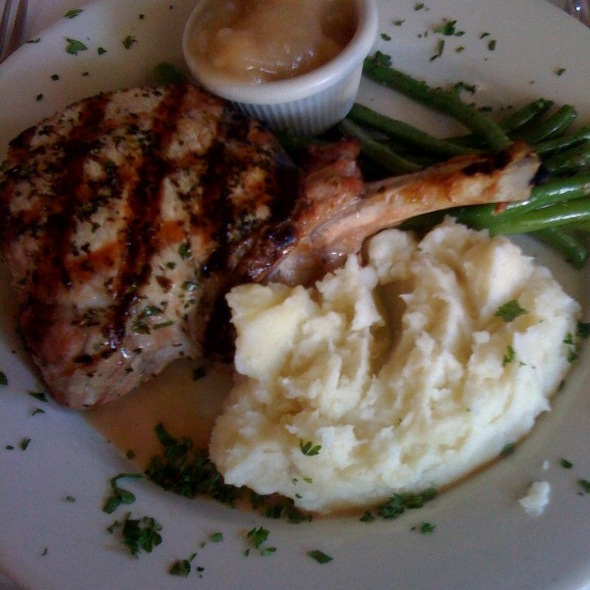 brie-stuffed pork chop - Off Vine, Hollywood, CA