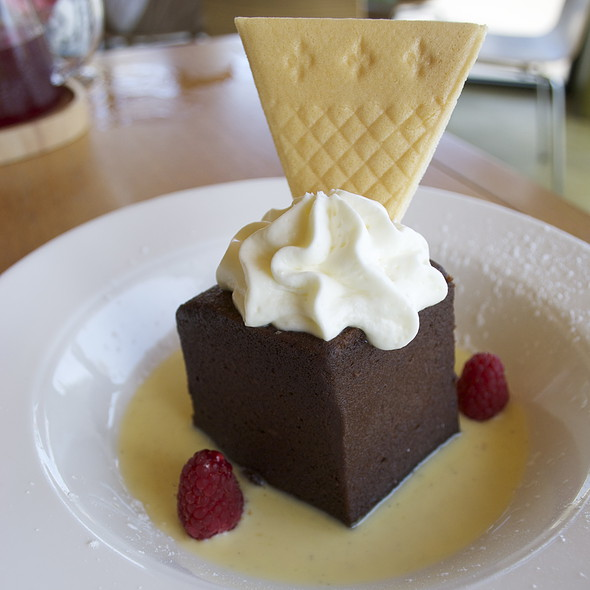 flourless chocolate cake - Plate Earthy California Cuisine, Malibu, CA
