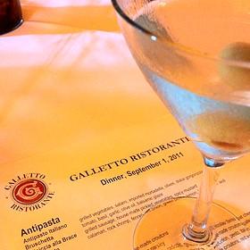 Dirty Stoli Martini - Galletto Ristorante, Modesto, CA