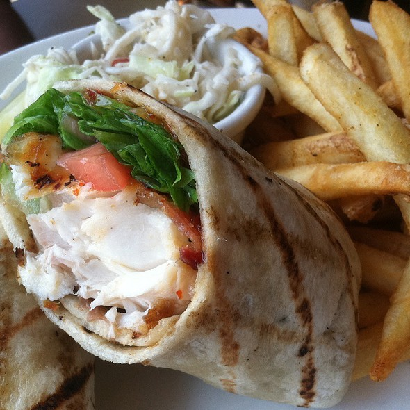 King Cobia Fish Wrap - The Mooring Restaurant, Newport, RI
