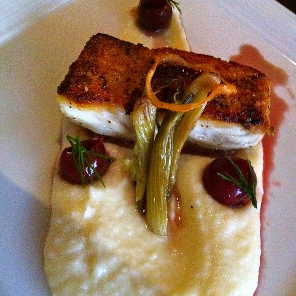 Fennel Pollen Seared Halibut - Arterra, San Diego, CA