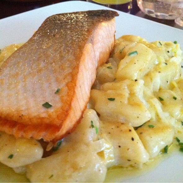 Salmon Gnocci - The Wet Fish Café, London