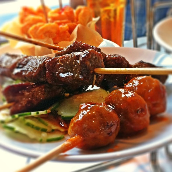 Beef Skewers - Nan Thai Fine Dining, Atlanta, GA