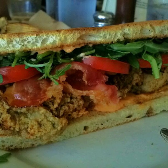 Fried Oyster Sandwich - Little Dom's, Los Angeles, CA