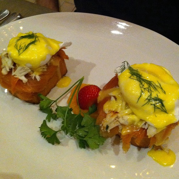 Smoked Salmon, Crab, Eggs Benedict - Mooo, Boston, MA