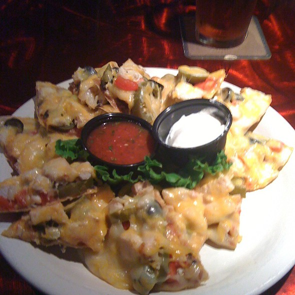 Nachos with Chicken - Binkley's Kitchen & Bar, Indianapolis, IN