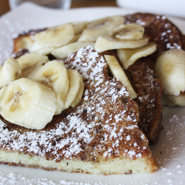 Banana French Toast - Plate Earthy California Cuisine, Malibu, CA