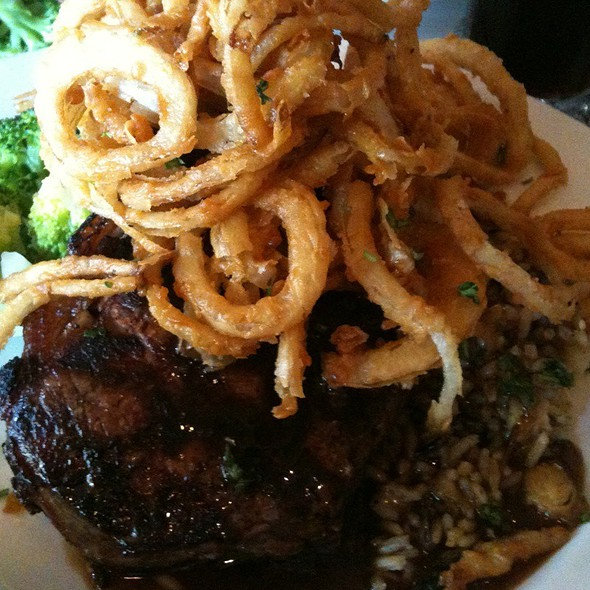 Ribeye With Shoestring Onions - Cafe 225, Visalia, CA