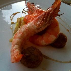 Shrimp, Grits, Andouille - Corbett's Fine Dining, Louisville, KY