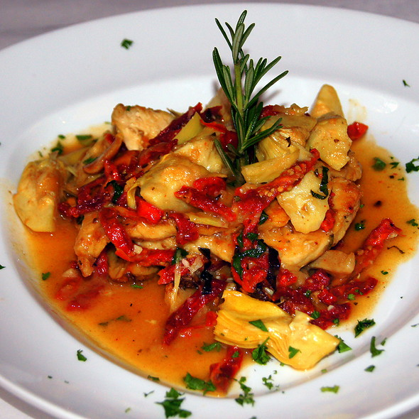 Chicken Scaloppine w/artichokes - Pazzo's Cucina Italiana - 23 E Jackson Blvd, Chicago, IL