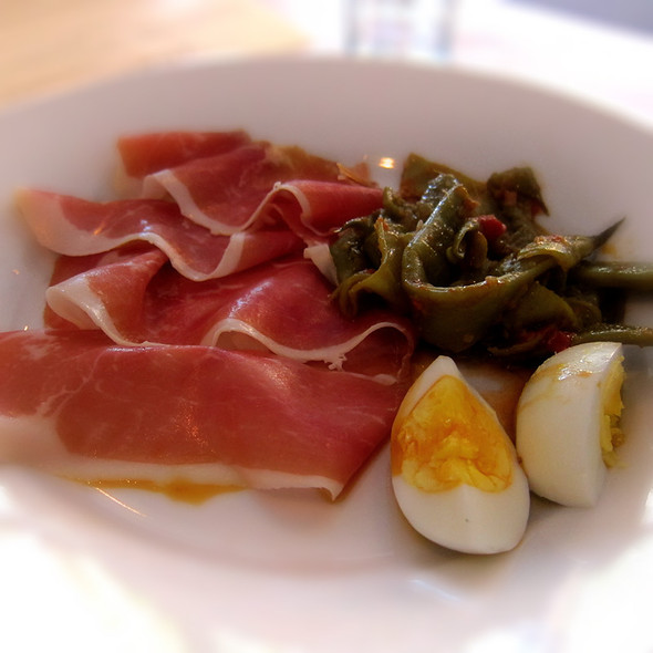 Serrano Ham with String Beans and Egg - Zuni Cafe, San Francisco, CA
