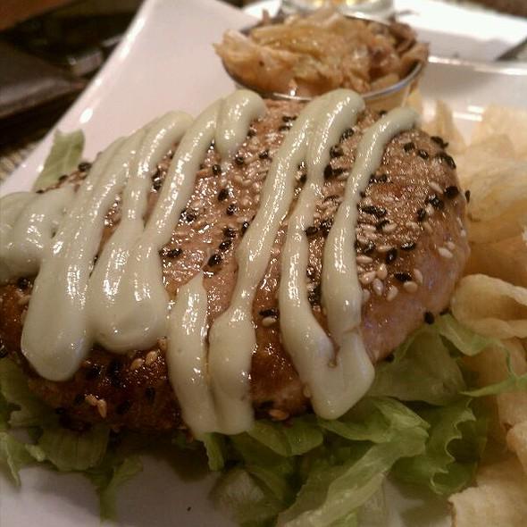 Ahi Tuna Burger - Max's Oyster Bar, West Hartford, CT
