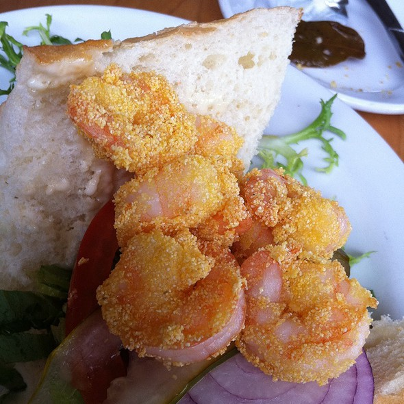 Fried Shrimp Po' Boy - Memphis Cafe, Costa Mesa, CA