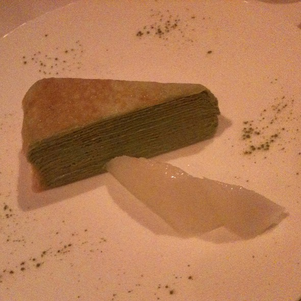 Green Tea Mille-Crepes Cake - Shinbashi, New York, NY
