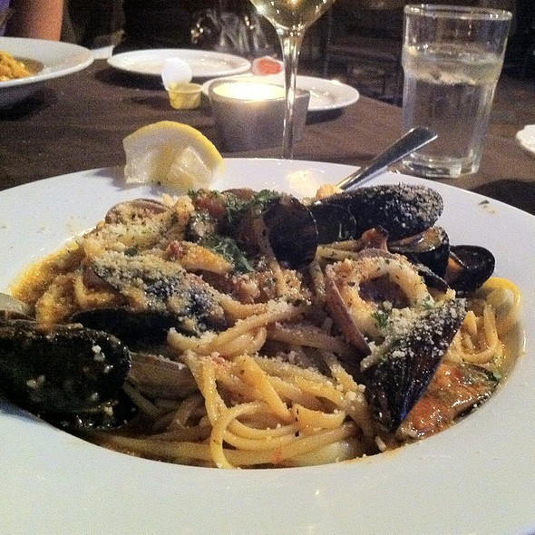 Seafood Linguini - Allegro Italian Kitchen - Downtown, Edmonton, AB