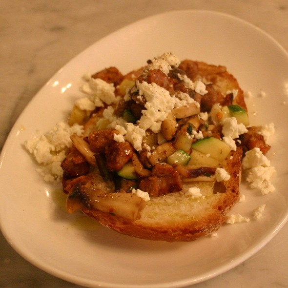 Spicy Sausage Wild Mushrooms Bruschetta - The Lexington Social, New York, NY