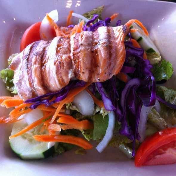 Grilled Salmon Salad - Cafe Centro - West Palm Beach, West Palm Beach, FL