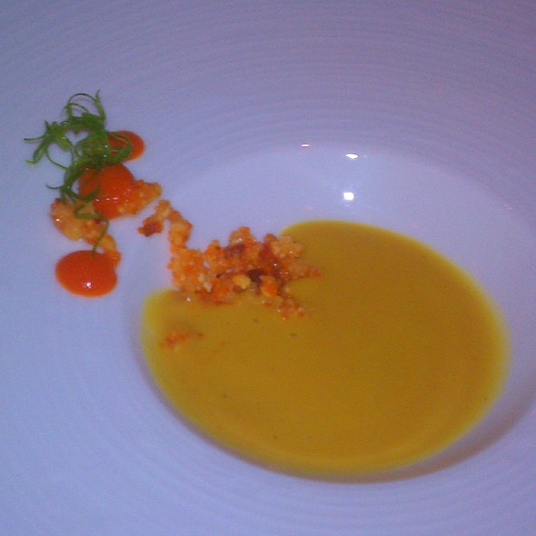 pumpkin soup - Azul - Mandarin Oriental Miami, Miami, FL