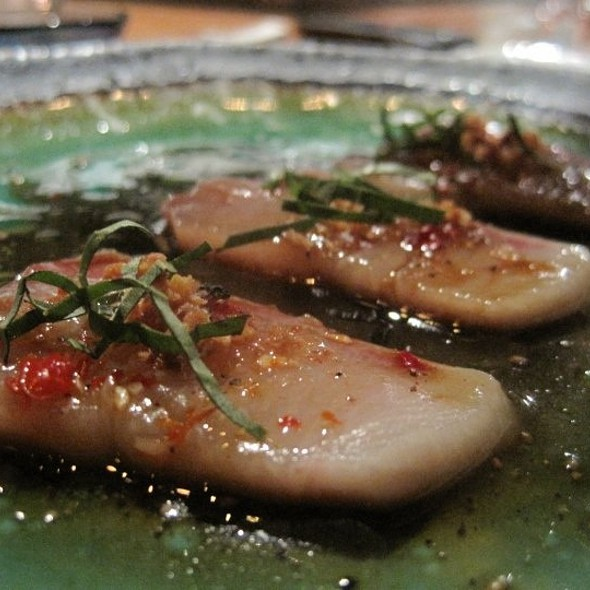 Hamachi With Thai Basil And Shallots - o ya, Boston, MA