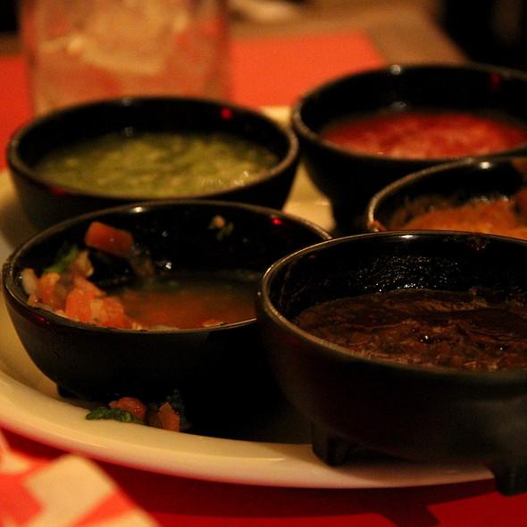 salsa platter - Mas Malo, Los Angeles, CA