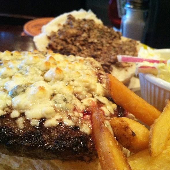 Bleu Cheese Burger - Iron Hill Brewery - Media, Media, PA