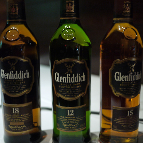 Glenfiddich Scotch - 12, 15 & 18 year - Pampas Palo Alto, Palo Alto, CA