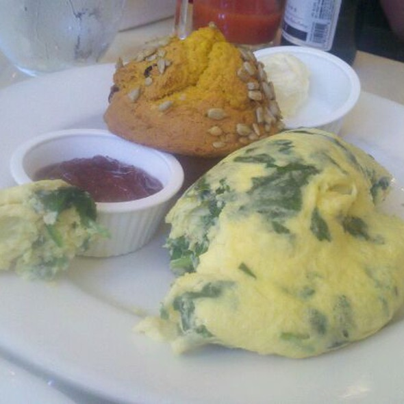 Spinach And Goat Cheese Omelette With Pumpkin Muffin - Sarabeth's East, New York, NY
