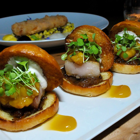 Pork Belly Sliders - Spur Gastropub, Seattle, WA
