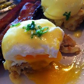 Crabcake Eggs Benedict - Chicken and the Egg, Marietta, GA