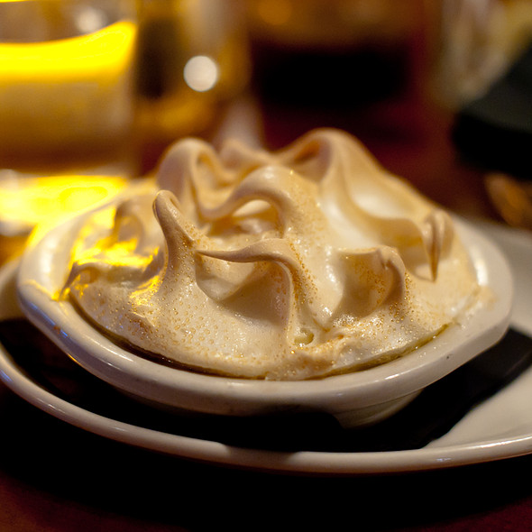 Banana Pudding with Meringue - The Pit Authentic BBQ, Raleigh, NC