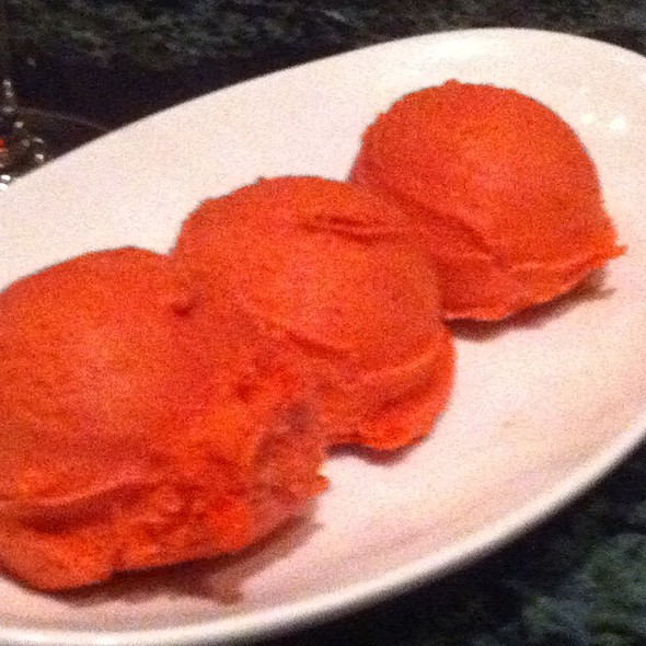 Strawberry Sorbet - Fiorenzo Italian Steakhouse, Orlando, FL
