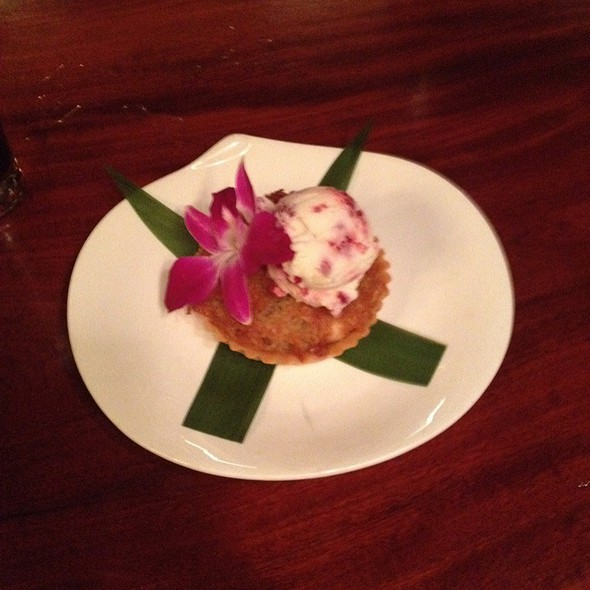 Coconut Macadamia Tart - Teikoku Restaurant, Newtown Square, PA