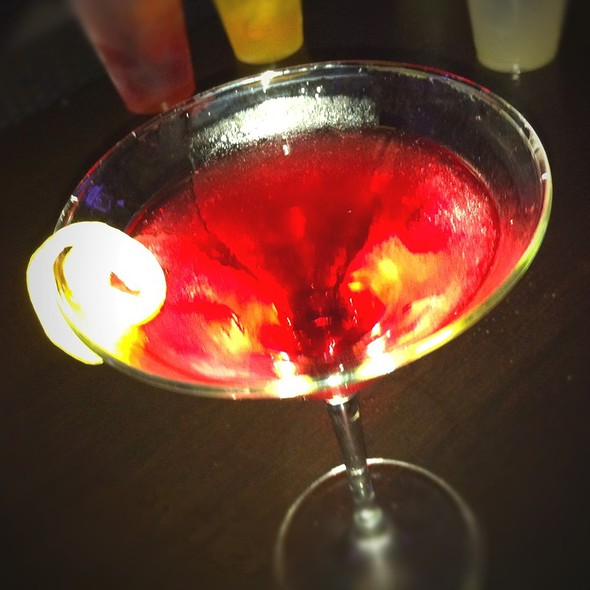 Pomegranate Martini - Dragonfly at Hotel ZaZa, Dallas, TX