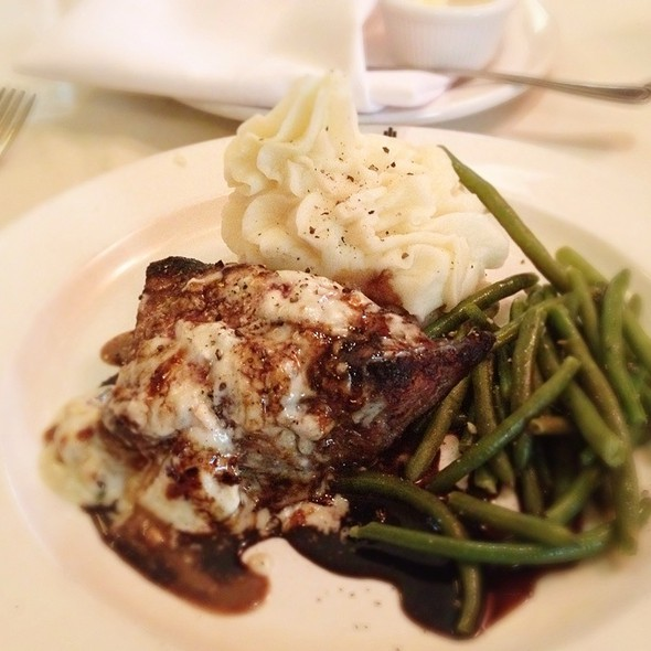 Porterhouse Steak With Blue Cheese Sauce - Pierpont's at Union Station, Kansas City, MO