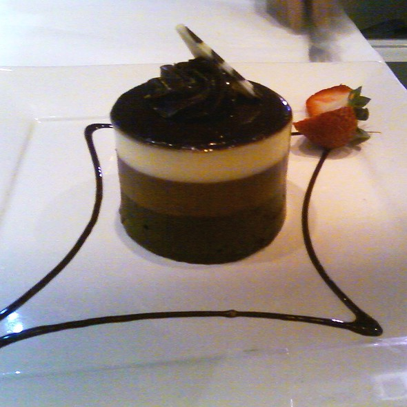 Three Layer Chocolate Mousse - Mi Piace, Pasadena, CA