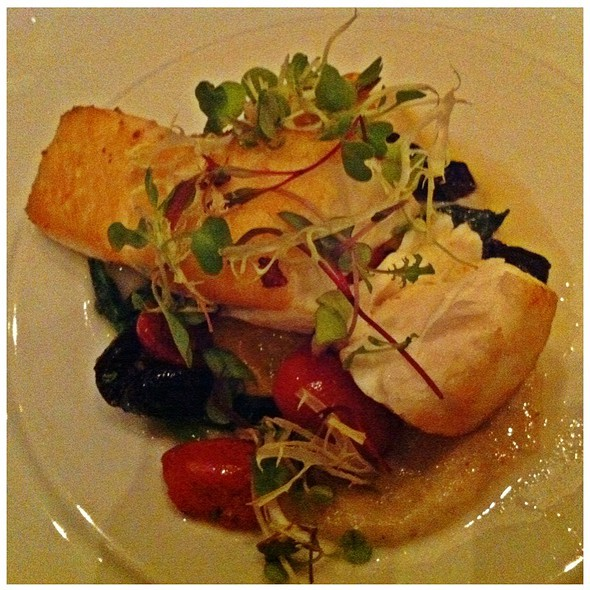 Roasted Halibut With Lobster - Modus Ristorante, Toronto, ON