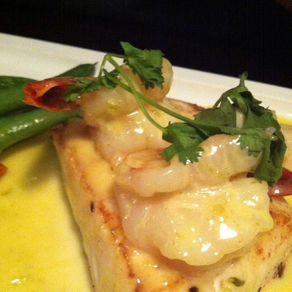 Halibut And Prawns With Coconut Green Curry - Nautical Nellies Steak & Seafood House, Victoria, BC