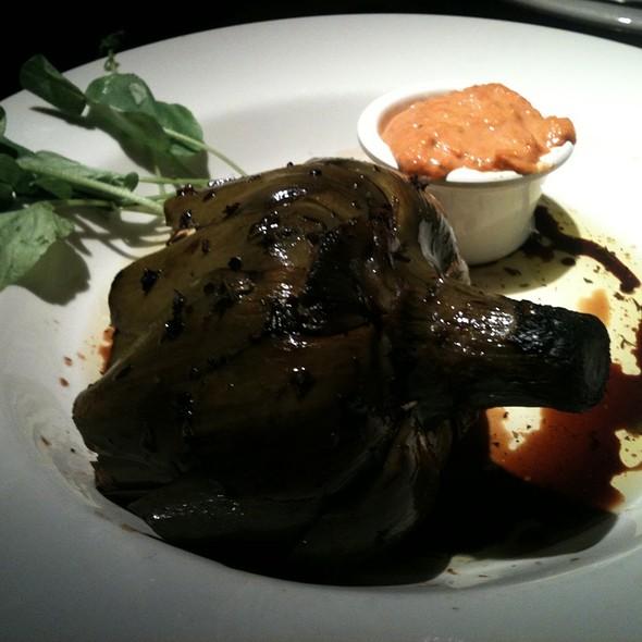 Fire roasted artichoke with aioli sauce - Rio Grill, Carmel, CA