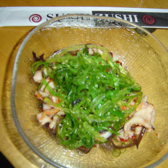 Seaweed & Squid Salad - Sushi Zushi - Lincoln Heights, San Antonio, TX