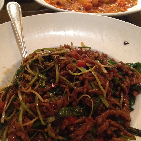 Shredded Beef With Leeks And Hot Peppers - Shun Lee Palace, New York, NY