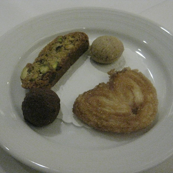 Mignardises - cookie, palmier, truffle, biscotti - Waterleaf Restaurant - Glen Ellyn, Glen Ellyn, IL