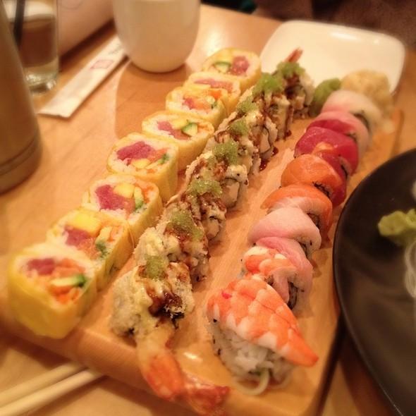 Tropical, Dragon, Rainbow Rolls - Sushi House, Leawood, KS